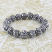 GRAY BLING IT ON STRETCH BRACELET #57407