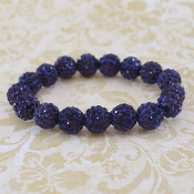 NAVY BLING IT ON STRETCH BRACELET #57405