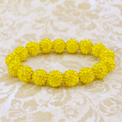 BRIGHT YELLOW BLING IT ON STRETCH BRACELET #57404