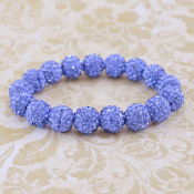 LIGHT BLUE BLING IT ON STRETCH BRACELET #57399