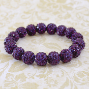 PURPLE BLING IT ON STRETCH BRACELET #57401