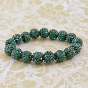 DARK GREEN BLING IT ON STRETCH BRACELET #57400