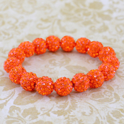 ORANGE BLING IT ON STRETCH BRACELET #57397