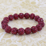 DEEP CRIMSON BLING IT ON STRETCH BRACELET #57398