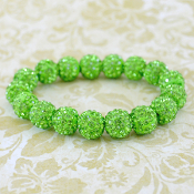 LIME BLING IT ON STRETCH BRACELET #57402