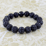 BLACK BLING IT ON STRETCH BRACELET #57396