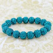 TURQUOISE BLING IT ON STRETCH BRACELET #57395