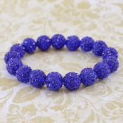 ROYAL BLUE BLING IT ON STRETCH BRACELET #57393