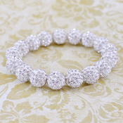 WHITE BLING IT ON STRETCH BRACELET #57391