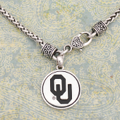 OKLAHOMA SOONERS SILVER LININGS NECKLACE #OKC57038