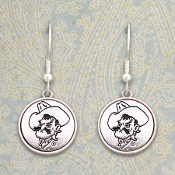 OKLAHOMA STATE COWBOYS SILVER LININGS EARRINGS #OKS56988