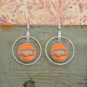 OKLAHOMA STATE COWBOYS CAMPUS CHIC EARRINGS #OKS56183