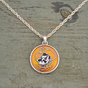 OKLAHOMA STATE PISTOL PETE CAMPUS CHIC NECKLACE #OKS57442