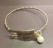 "STATE OF OKLAHOMA ""OKLAHOMA GIRL"" GOLD CUFF BRC #BR259X154GP"