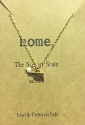 OKLAHOMA PETITE GOLD STAMPED CHARM NECKLACE #N178X202OK