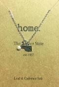 OKLAHOMA PETITE SILVER STAMPED CHARM NECKLACE #N178X202OKRHD