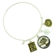 TREE OF LIFE MEMORY WIRE BANGLE #82445WH-S