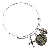 FAITH HOPE BELIEVE MEMORY WIRE BANGLE #83145CR-S