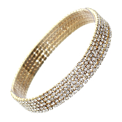 5PC RHINESTONE BRACELET #83018CR-G