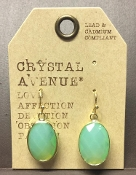 OVAL FACETED DESIGNER EARRINGS #24994PO-G