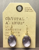 OVAL FACETED DESIGNER EARRINGS #24994VI-G