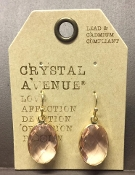 OVAL FACETED DESIGNER EARRINGS #24994RO-G