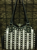 DIAMOND CLASP BLING HANDBAG #F180D-BLK