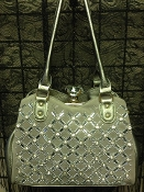 DIAMOND CLASP BLING HANDBAG #F180C-PT