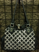 DIAMOND CLASP BLING HANDBAG #F180C-BLK
