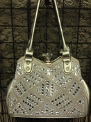 DIAMOND CLASP BLING HANDBAG #F180B-PT