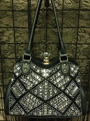 DIAMOND CLASP BLING HANDBAG #F180B-BLK