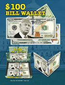 DONALD TRUMP $100 BILL WALLET #WA-704DT