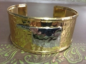 OKLAHOMA HAMMERED CUFF BRACELET #BA259X172-GOLD