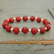 RED MY BLING STRETCH BRACELET #57740