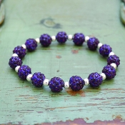 PURPLE MY BLING STRETCH BRACELET #57508