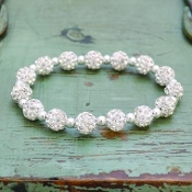 WHITE MY BLING STRETCH BRACELET #57498