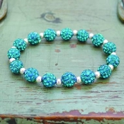 TURQUOISE MY BLING STRETCH BRACELET #57502