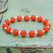 ORANGE MY BLING STRETCH BRACELET #57504