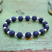 NAVY MY BLING STRETCH BRACELET #57512