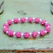 PINK MY BLING STRETCH BRACELET #57510