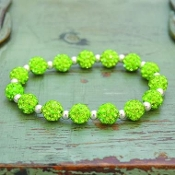 LIME MY BLING STRETCH BRACELET #57509