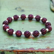 DEEP CRIMSON MY BLING STRETCH BRACELET #57505