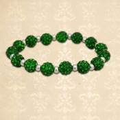 GREEN MY BLING STRETCH BRACELET #57739