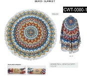 ROUND BEACH TOWEL #CWT-0000-1-MULTI