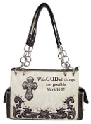 SCRIPTURE CONCEALED CARRY HANDBAG #PRY893-BO