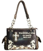 SCRIPTURE CONCEALED CARRY HANDBAG #PRY893-BK