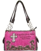 SCRIPTURE CONCEALED CARRY HANDBAG #PRY893-HPK