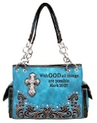 SCRIPTURE CONCEALED CARRY HANDBAG #PRY893-TQ