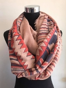 TRIBAL INFINITY SCARF #CMF-5527 ROSE