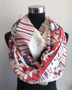 TRIBAL INFINITY SCARF #CMF-5527 OFF WHITE